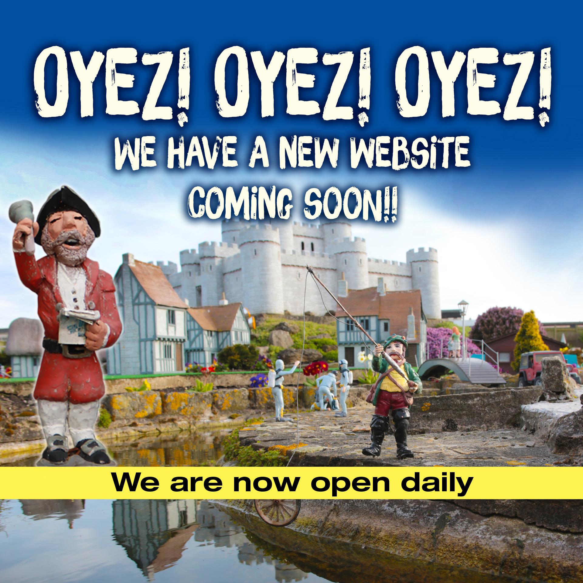 oyez! oyez! oyez! We are open